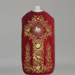 Roman Chasuble 10959 - Red  - 1
