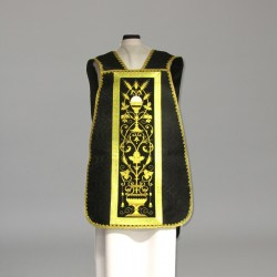 Roman Chasuble 10971 - Black