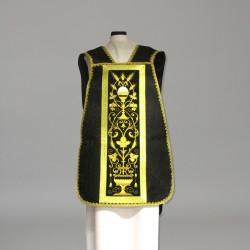 Roman Chasuble 10971 - Black  - 6
