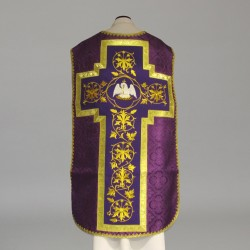 Roman Chasuble 10972 - Purple  - 4
