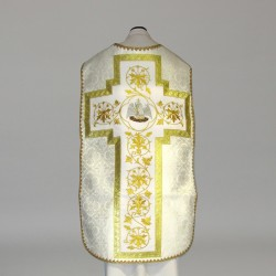 Roman Chasuble 10973 - Cream  - 3