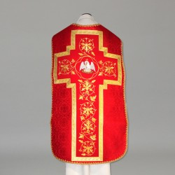 Roman Chasuble 10974 - Red  - 5