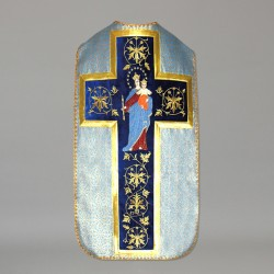 Marian Roman Chasuble 10977 - Blue  - 1