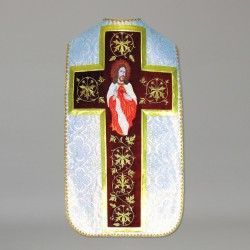 Roman Chasuble 10979 - White  - 3