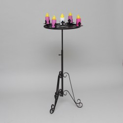 2'' L.E.D Advent Candle Holder 11154  - 1