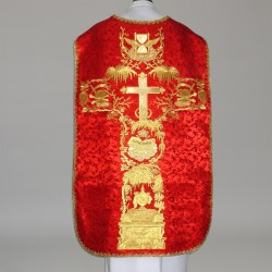 Roman Chasuble 11186 - Red  - 1
