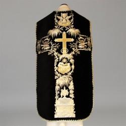 Roman Chasuble 11187 - Black  - 1