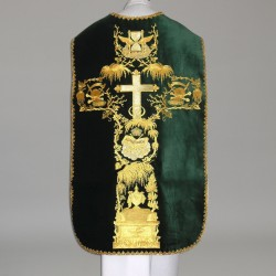 Roman Chasuble 11188 - Green  - 3