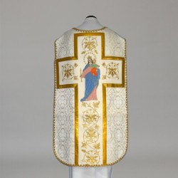 Marian Roman Chasuble 11199 - Cream  - 2