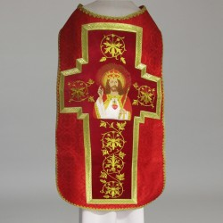Roman Chasuble 11201 - Red  - 1