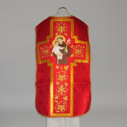 Roman Chasuble 11202 - Red  - 2