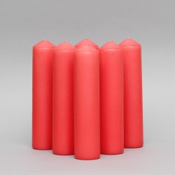2'' x 12'' Red Advent candles pack of 6  - 1