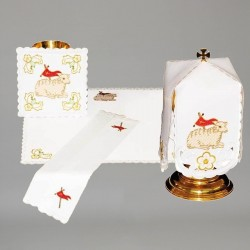 Chalice Linen Set with Ciborium Veil 11288  - 1