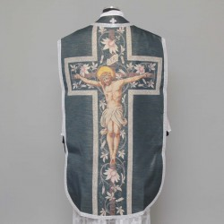 Printed Roman Chasuble 4545 - Black  - 1