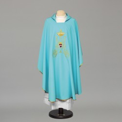 Marian Gothic Chasuble 9019 - Blue