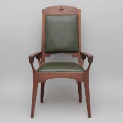 Oak Presidential Chair and 4 Matching Stools 12314