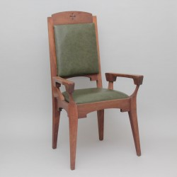 Oak Presidential Chair and 4 Matching Stools 12314  - 2
