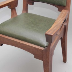 Oak Presidential Chair and 4 Matching Stools 12314  - 4