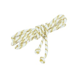 Altar Server Cincture 10 ft - 12366 - White and Gold  - 1