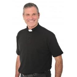 Mens Black Polo shirt 12368  - 1