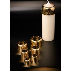Brass Candle Cap Suitable for 1 1/2'' Candle  12432  - 1
