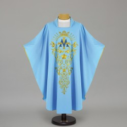 Marian Gothic Chasuble 4437 - Blue  - 1