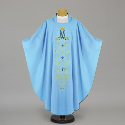 Marian Gothic Chasuble 4441 - Blue  - 1