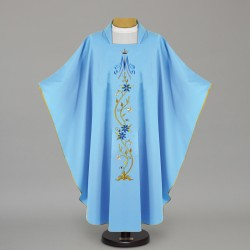 Marian Gothic Chasuble 12447 - Blue  - 1