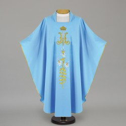 Marian Gothic Chasuble 12448 - Blue  - 1