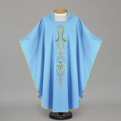 Marian Gothic Chasuble 12451 - Blue  - 1
