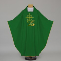 Gothic Chasuble 12562 - Green  - 1