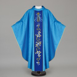 Marian Gothic Chasuble 12679 - Blue  - 1
