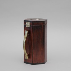 Dark Wood Money Collection Box 12707  - 1