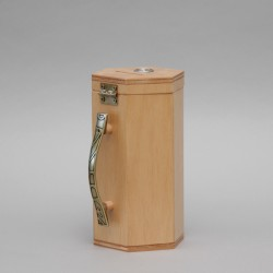 Light Wood Money Collection Box 12708  - 1