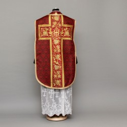 Printed Roman Chasuble 4538 - Red  - 1
