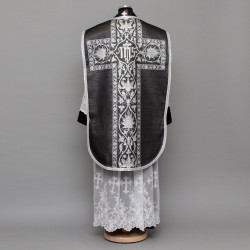 Printed Roman Chasuble 4569 - Black  - 1