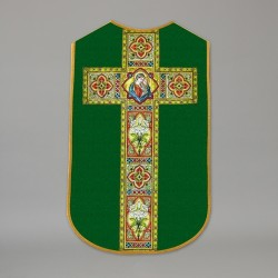 Printed Roman Chasuble 4532 - Green  - 1