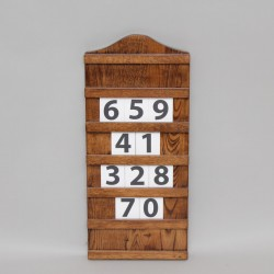 Dark Oak Hymn Board 13026