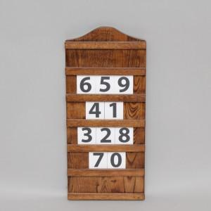 Dark Oak Hymn Board 13026  - 1