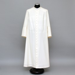 135cm Half-lined Superfine Wool-blend Cassock  - 1