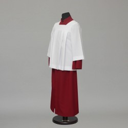 130cm Altar server cassock and pleated style cotta 13152  - 1