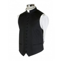 Poly-Wool Clerical Waistcoat  - 1