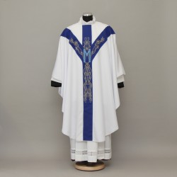 Gothic Chasuble 13209 - White  - 3