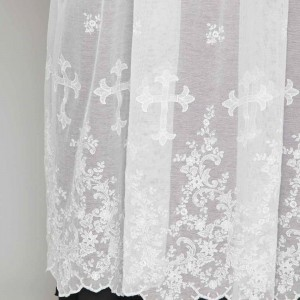 155cm Pure linen alb with lace on tulle 13260  - 3