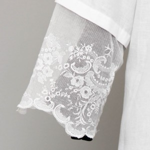 155cm Pure linen alb with lace on tulle 13260  - 4