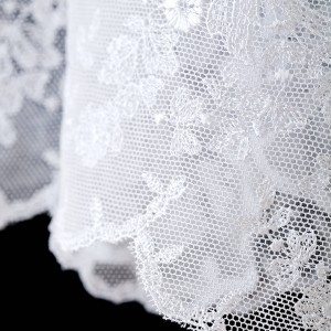 155cm Pure linen alb with lace on tulle 13260  - 5