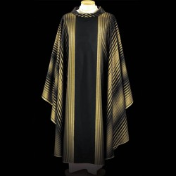 Gothic Chasuble 13418 - Black  - 2