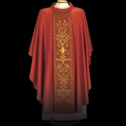 Gothic Chasuble 13443 - Red  - 2
