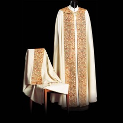 Gothic Cope and Humeral Veil 13492 - Cream  - 1
