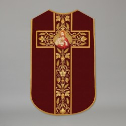 Printed Roman Chasuble 4533 - Red  - 1